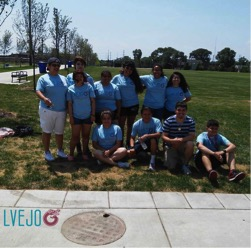 LVEJO organizers and youth leaders at La Villita Park. Photo courtesy of LVEJO.