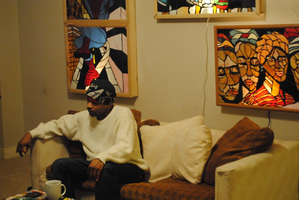 Yaya in his Hyde Park apartment photo by Rose Lambin