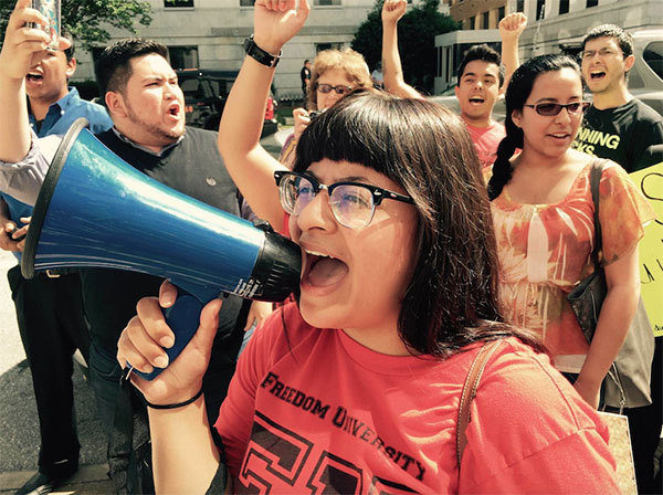 In cities like Atlanta and Chicago, undocumented students and allies are starting to mobilize by organizing protests, walks, and activist groups. (Photo courtesy of Ashley Rivas-Triana, taken by Laura Emiko Soltis)